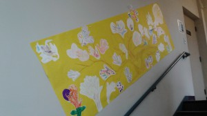 banner of hand prints