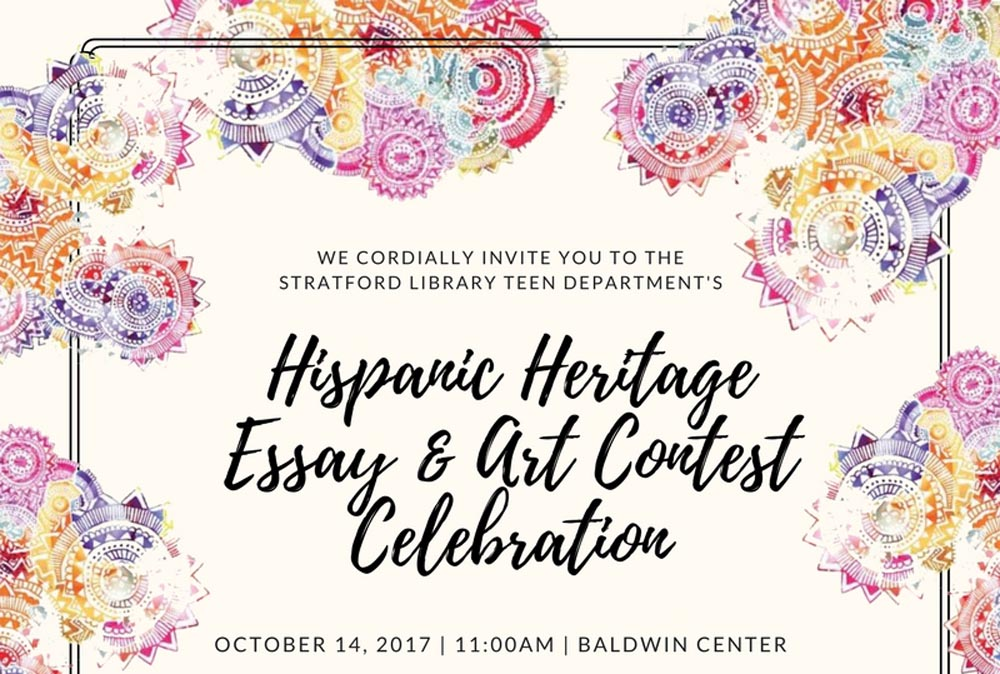 Essay Proposal Examples Hundreds Of Th Th  Th Grade Students Have Submitted Inspiring Essays  Poetry And Art Join Us As We Celebrate Hispanic Heritage And Award The Top   The Kite Runner Essay Thesis also Is A Research Paper An Essay Hispanic Heritage Essay  Art Contest Celebration  Stratford  English Essay Topics