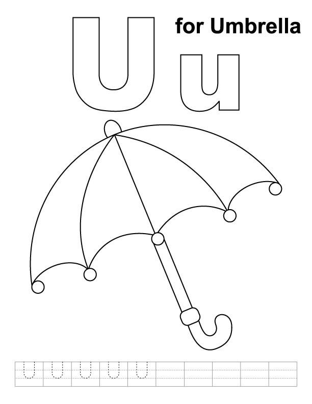 coloring page umbrella